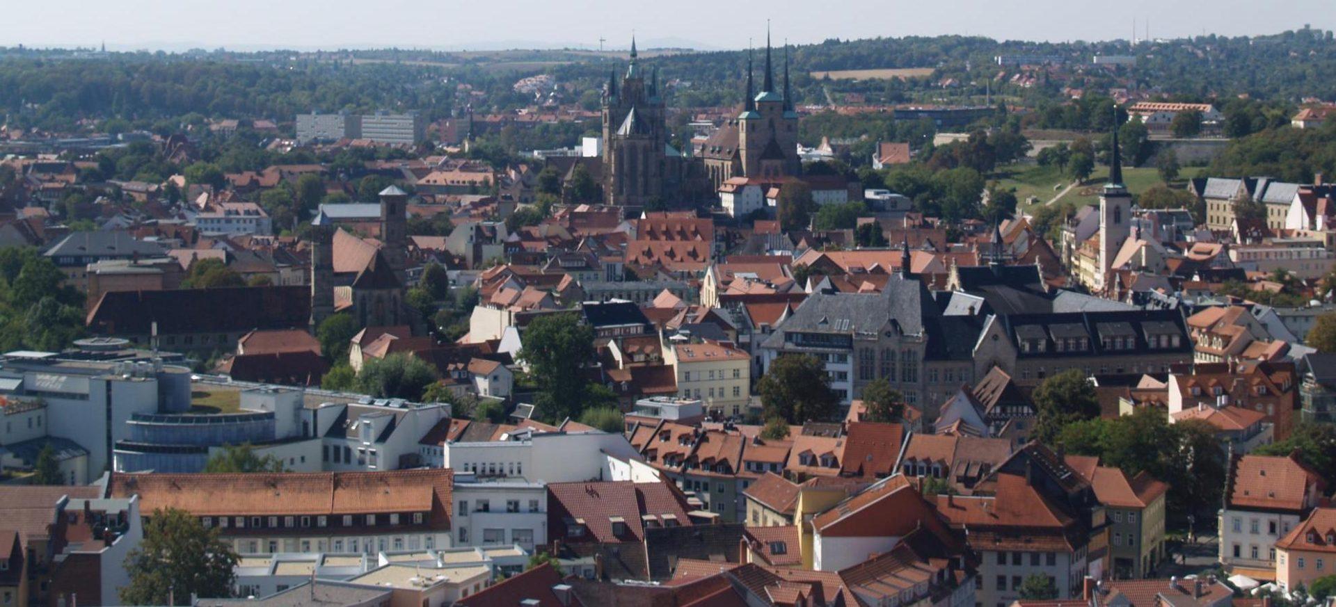 Blick über die Stadt / View over Erfurt