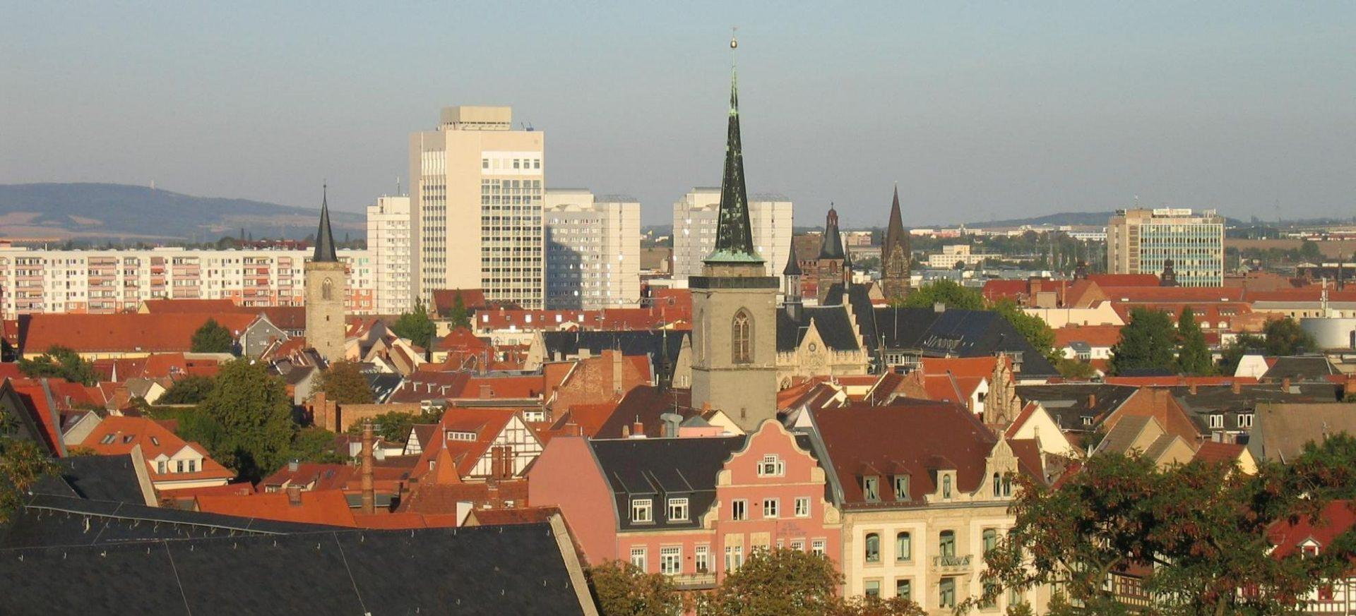 Radisson Blu Hotel Erfurt Blick über die Stadt / View over Erfurt